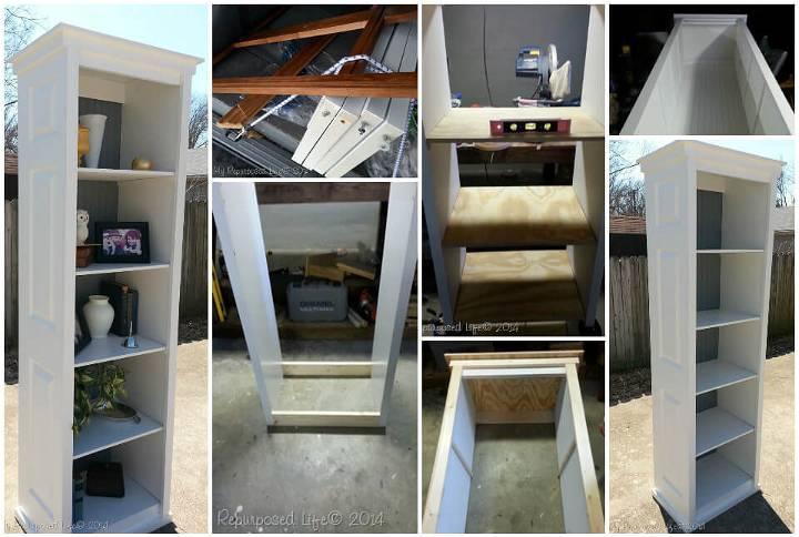 bookshelf made of a bi-fold door