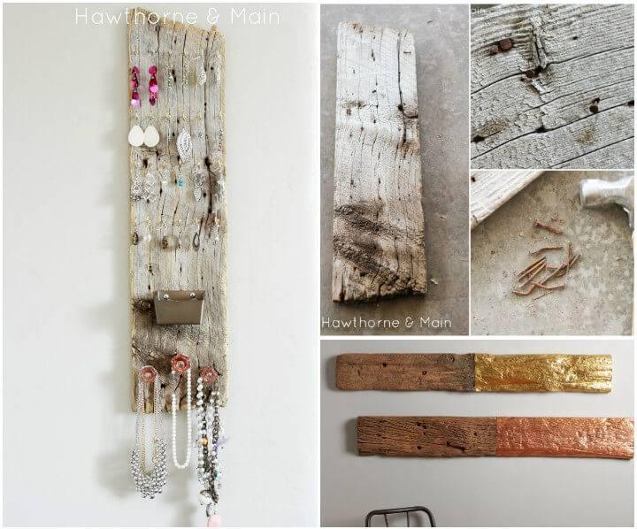 reclaimed barn wood jewelry organizer