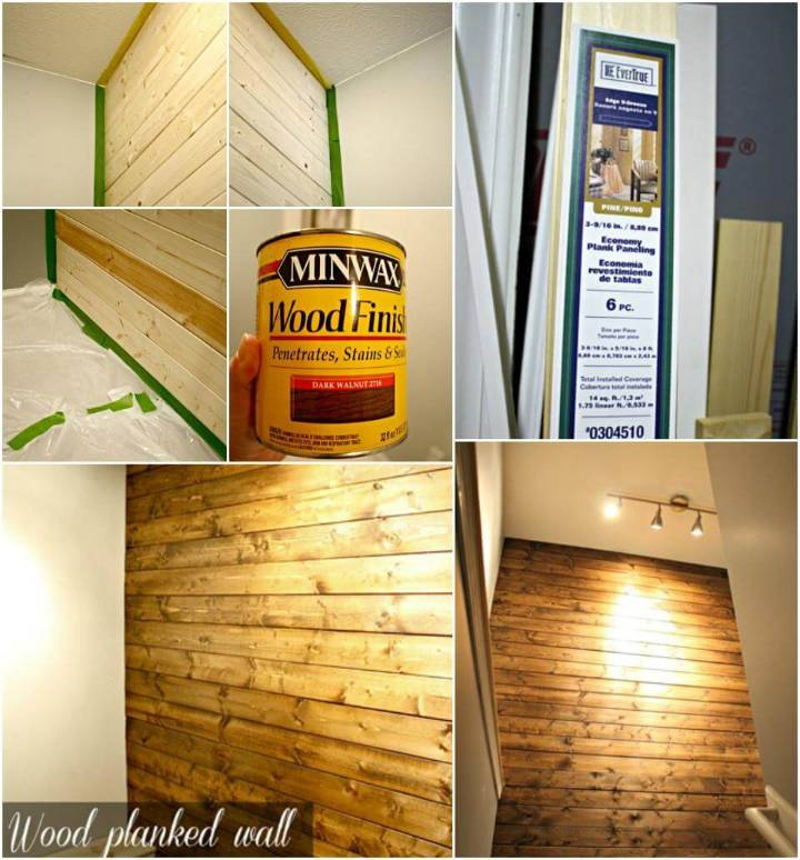DIY upstairs accent wooden wall