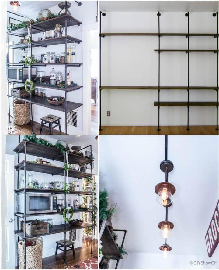 self-installed industrial shelves