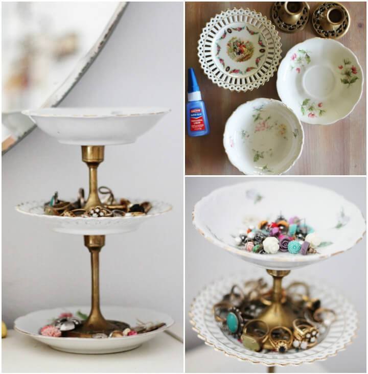 vintage jewelry organizer diy