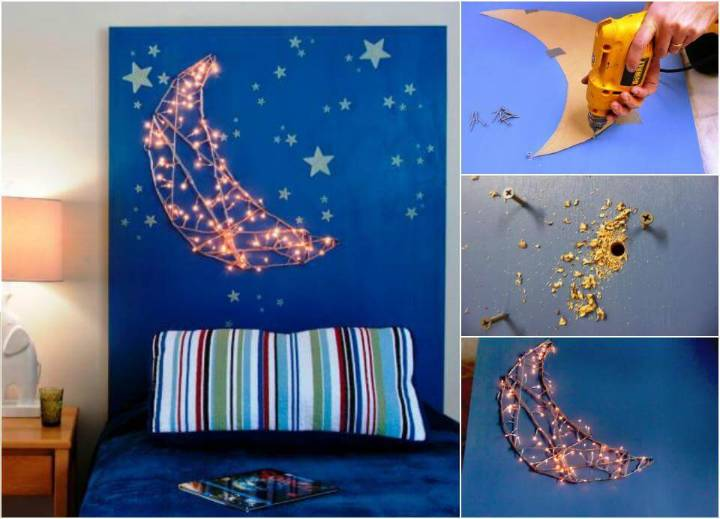 kids moon and star headboard