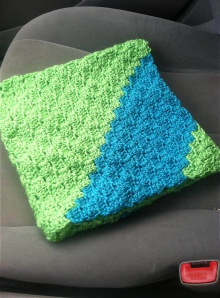 13 Free Corner To Corner Baby Crochet Blanket Patterns Diy Crafts