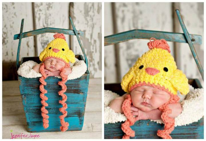 free easter chicken baby crochet hat pattern