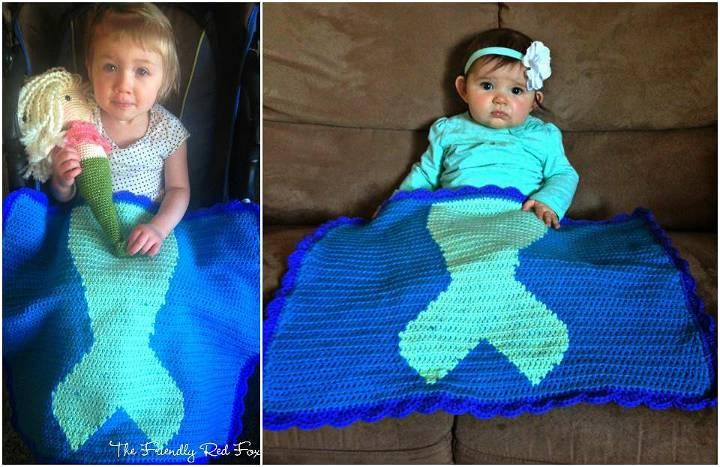 crochet mermaid tail blanket pattern