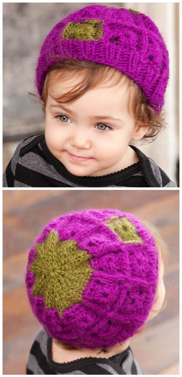 c674b839a0e Crochet Baby Hats - 50 Free Crochet Hat Patterns - DIY   Crafts