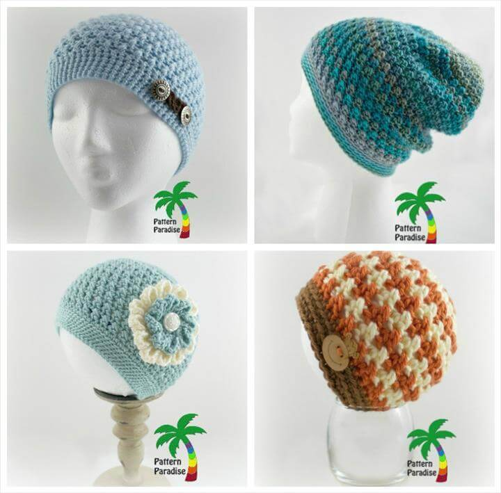 free crochet julia's hat patterns