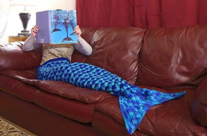 easy crochet mermaid afghan