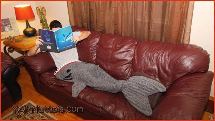 easy crochet shark mermaid afghan