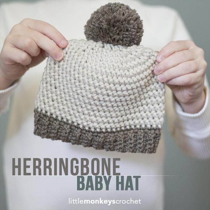 Crochet Baby Hats - 50 Free Crochet Hat Patterns - DIY & Crafts