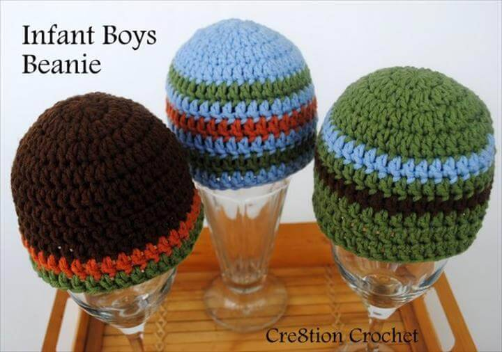 infant boy beanies crochet pattern