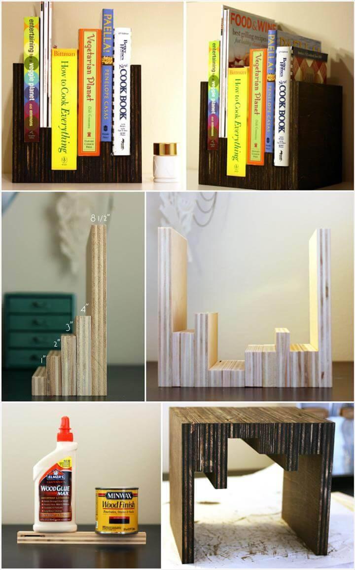 handmade wooden anthro bookshelf