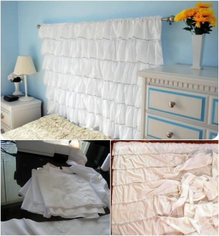 DIY ruffled headboard