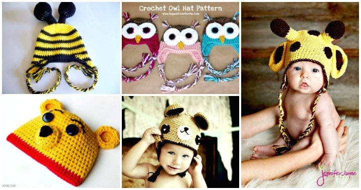 991e2354567c63 Crochet Baby Hats - 50 Free Crochet Hat Patterns - DIY & Crafts