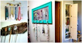 100 DIY Jewelry Organizers & Storage Ideas – Full Tutorials