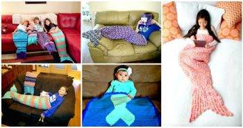 22 Free Crochet Mermaid Tail Blanket Patterns