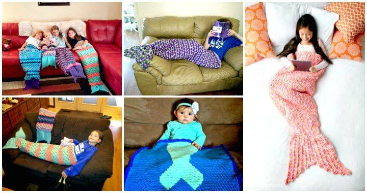 Free Crochet Mermaid Tail Blanket Patterns