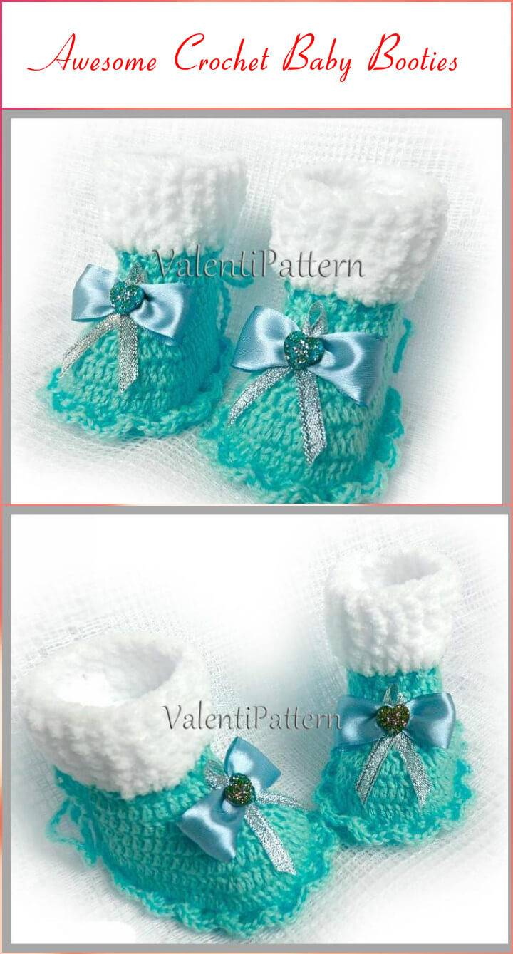 crochet little princess baby bow shoes
