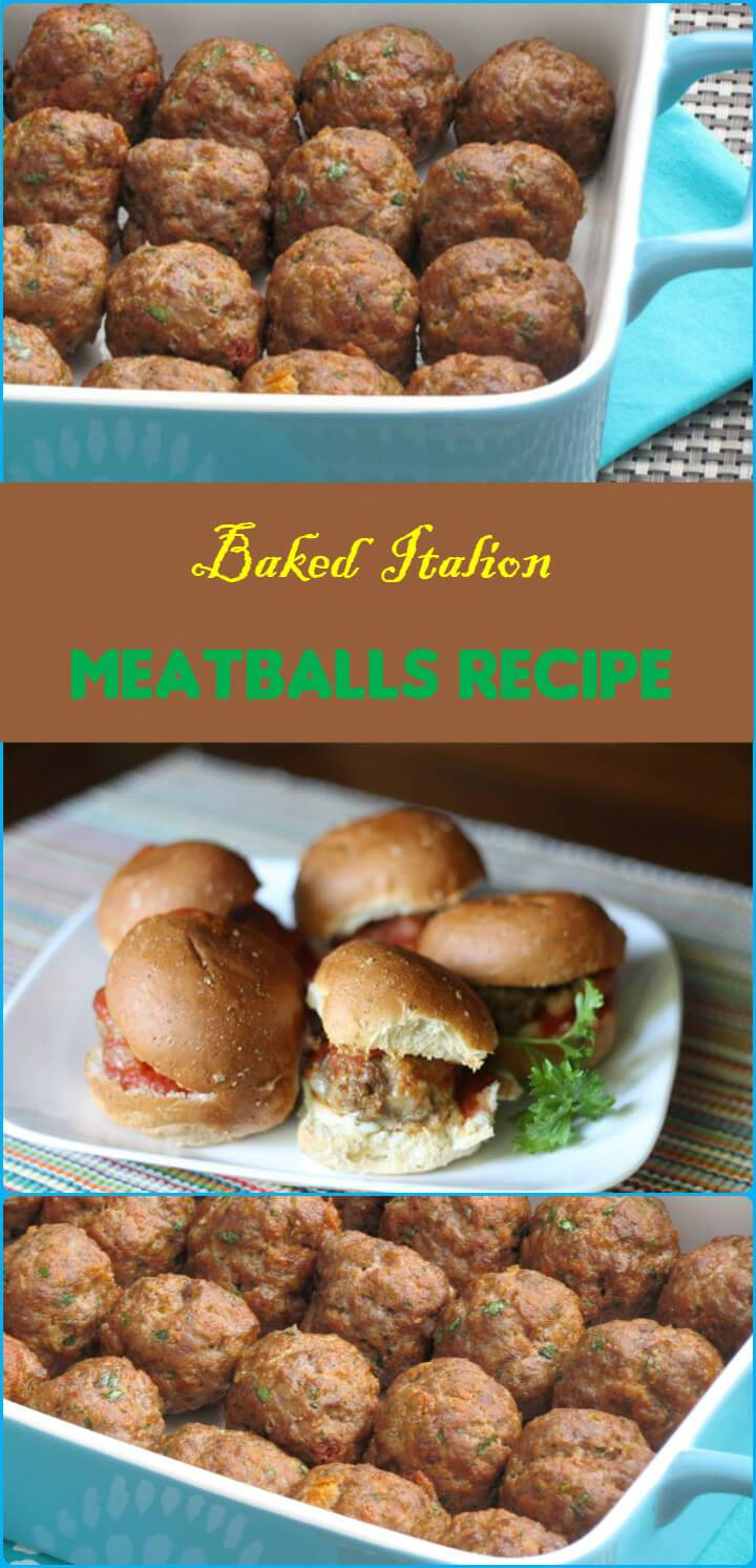 baked mouth-watering Italion meatballs