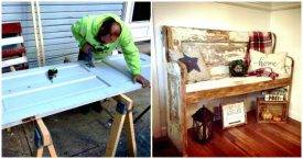 Change an Old Door into Bench