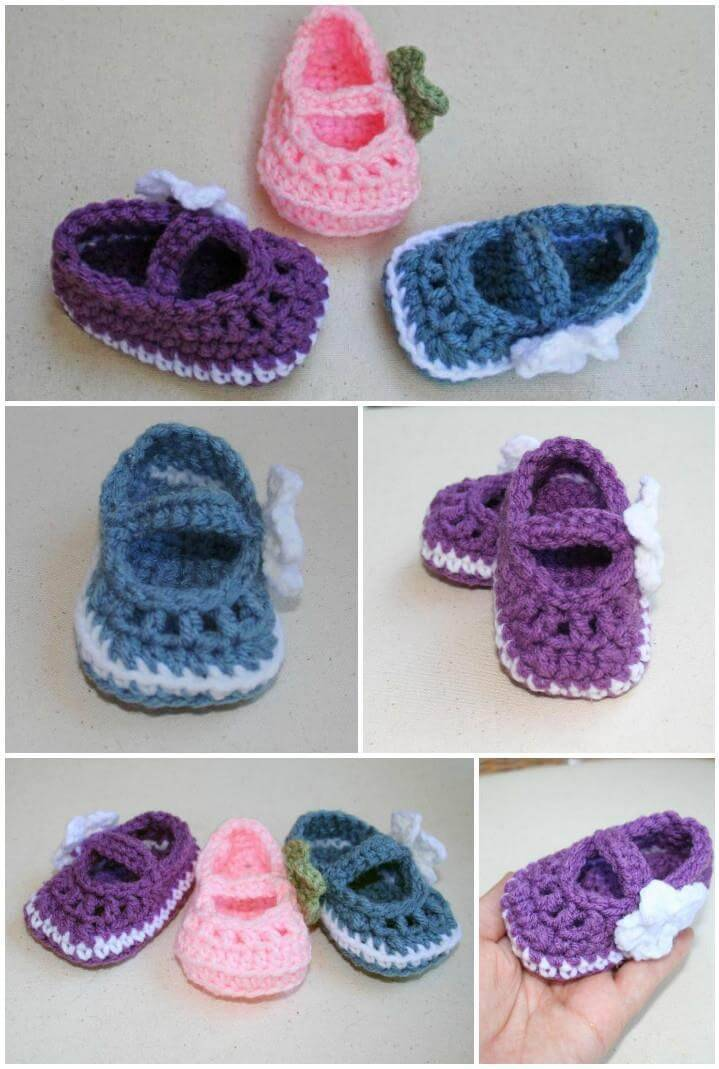 520f3fc6518e4 Crochet Baby Booties - Top 40 Free Crochet Patterns - DIY Crafts