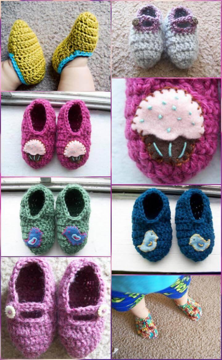 easy crochet toddler slippers free pattern