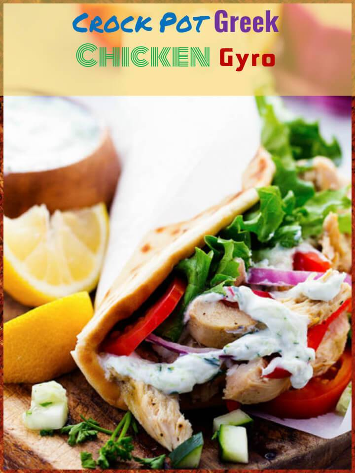 crock pot greek chicken gyro