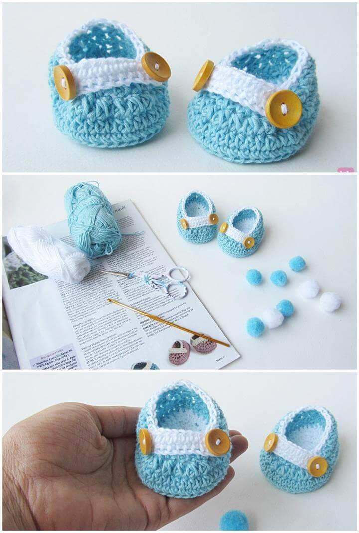 crochet newborn baby shoes free pattern