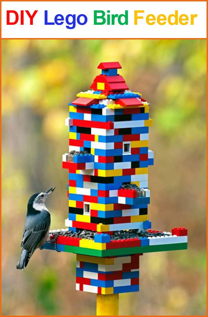 precious Lego bird feeder