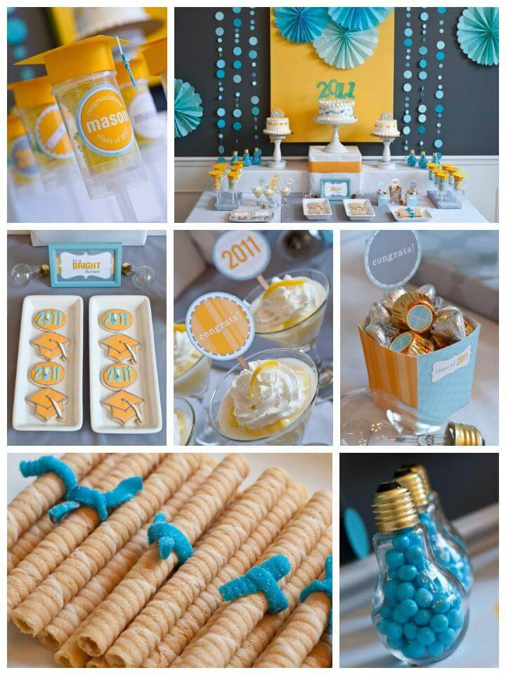 Decorations convey the theme of your graduation party and add a festive air to the proceedings. Whether you're celebrating your teen's high school graduation or your college graduate's entry into the working world, decorations are always necessary to keep your party in style.