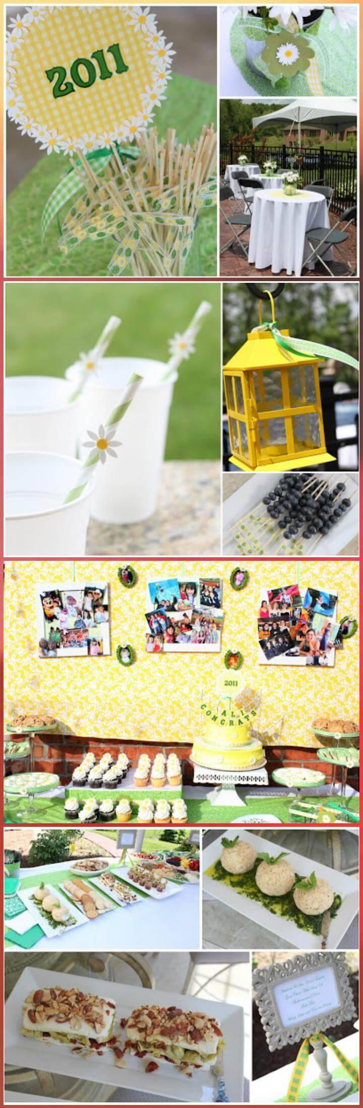 perfect daisy graduation party decor theme