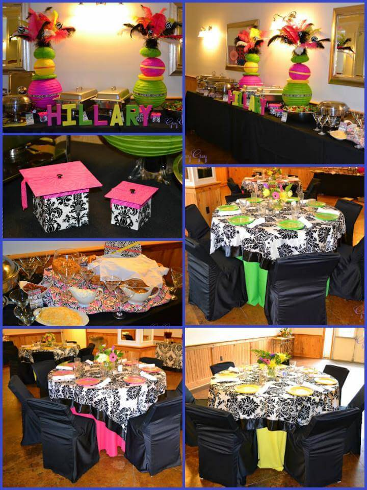 damask spring color graduation party theme