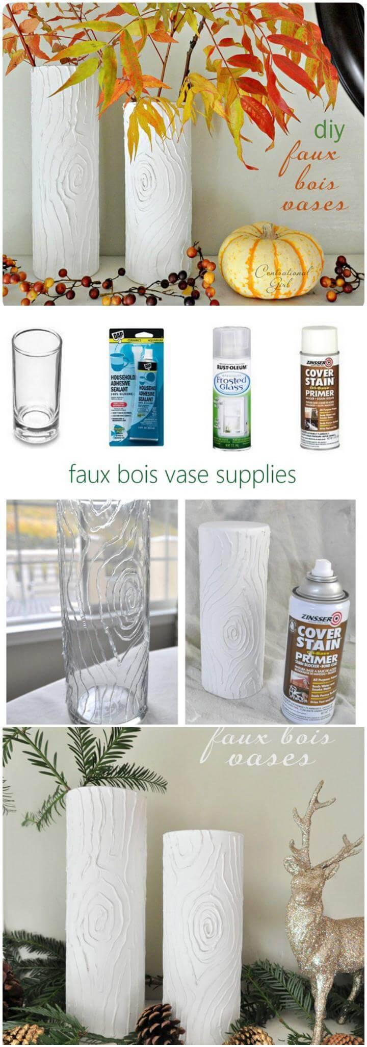 DIY faux boise vases