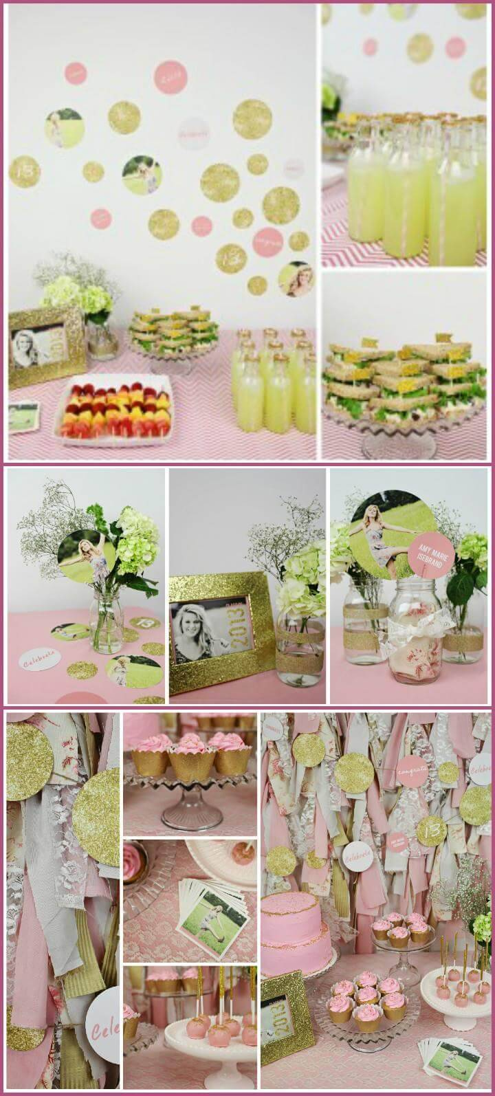 glam graduation party decor theme