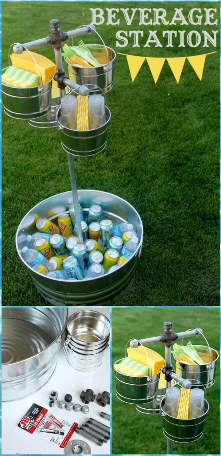 DIY graduation party beverage station