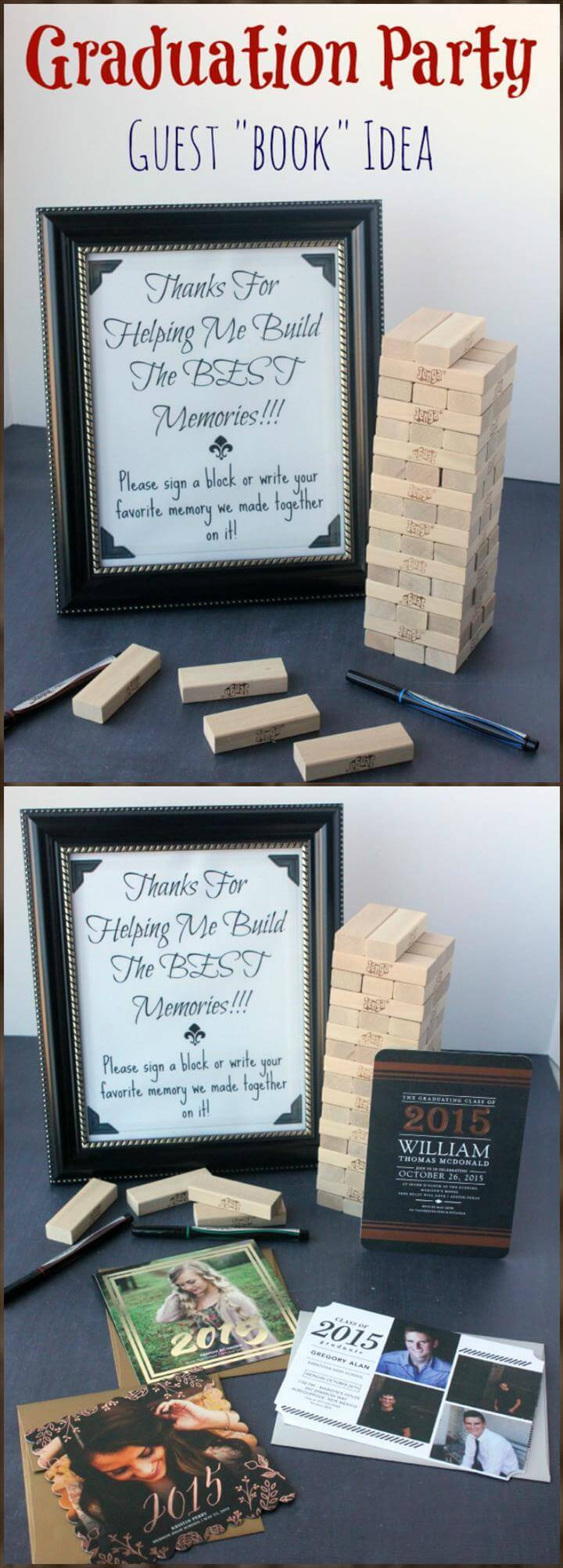 DIY graduation party guest book idea
