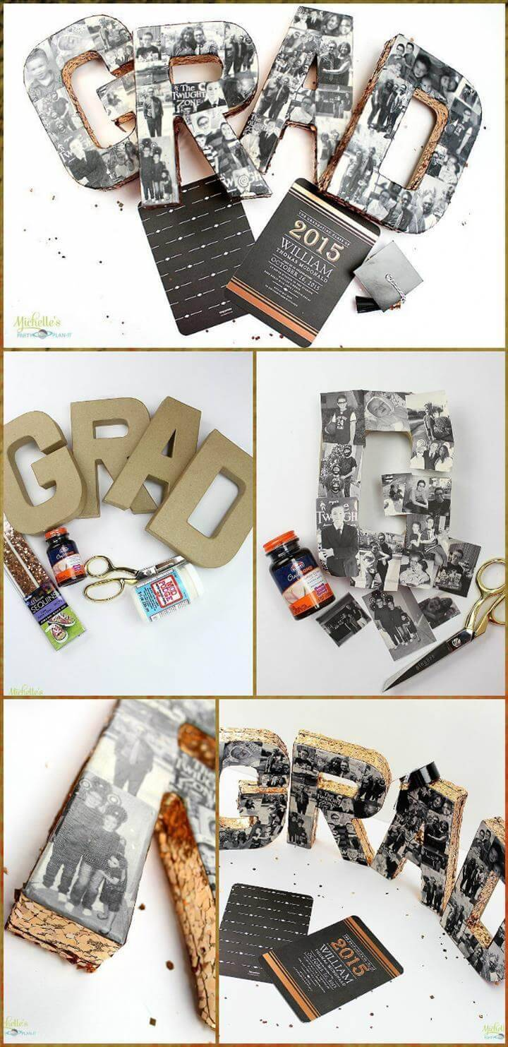 DIY graduation party photo collage