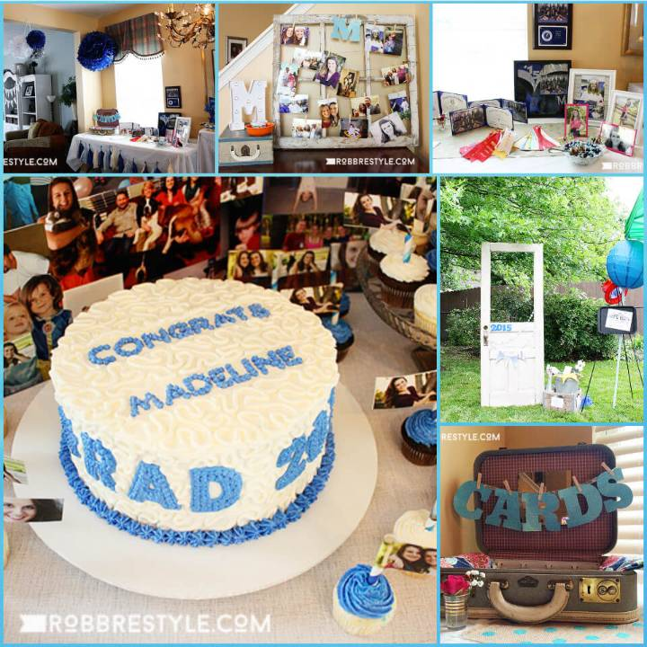 beautiful graduation party theme and decor idea