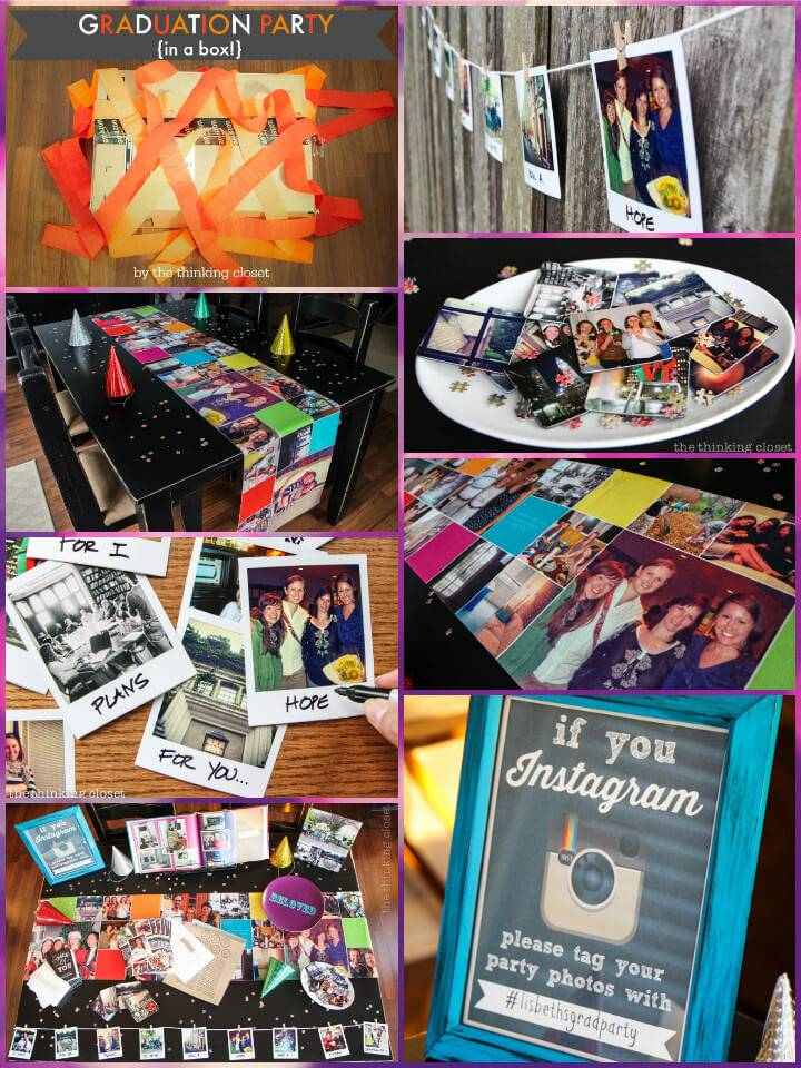 beautiful instagram themed graduation party in a box