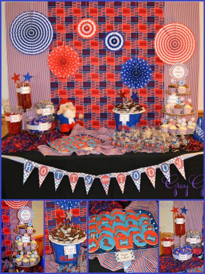 Ole miss themed graduation party theme