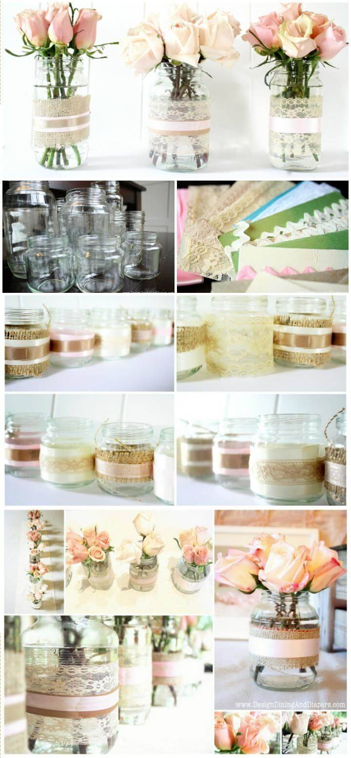 100 diy vases or centerpiece unique ways to diy your vases diy diy reclaimed jar votive or vases reviewsmspy