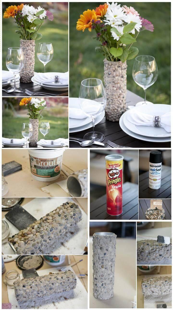 DIY stone vase