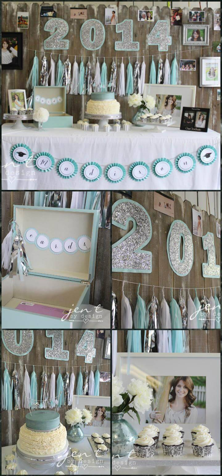 unique yet stylish graduation party theme and decor idea