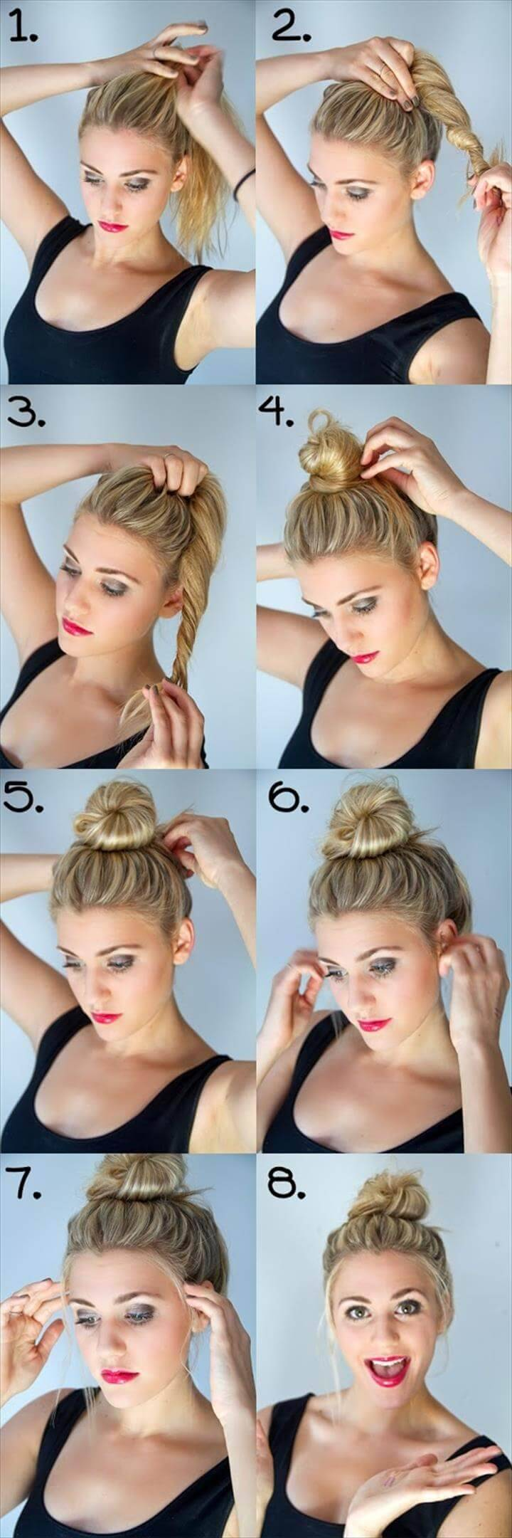 cool twisted bun hairstyle