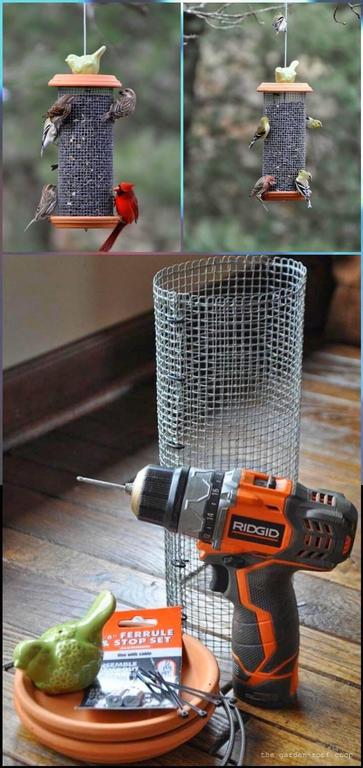 creative sunflower tower bird feeder