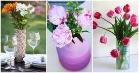 DIY Vases or Centerpiece - Unique Ways to DIY Your Vases