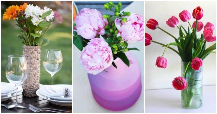 Diy vases or centerpiece unique ways to your