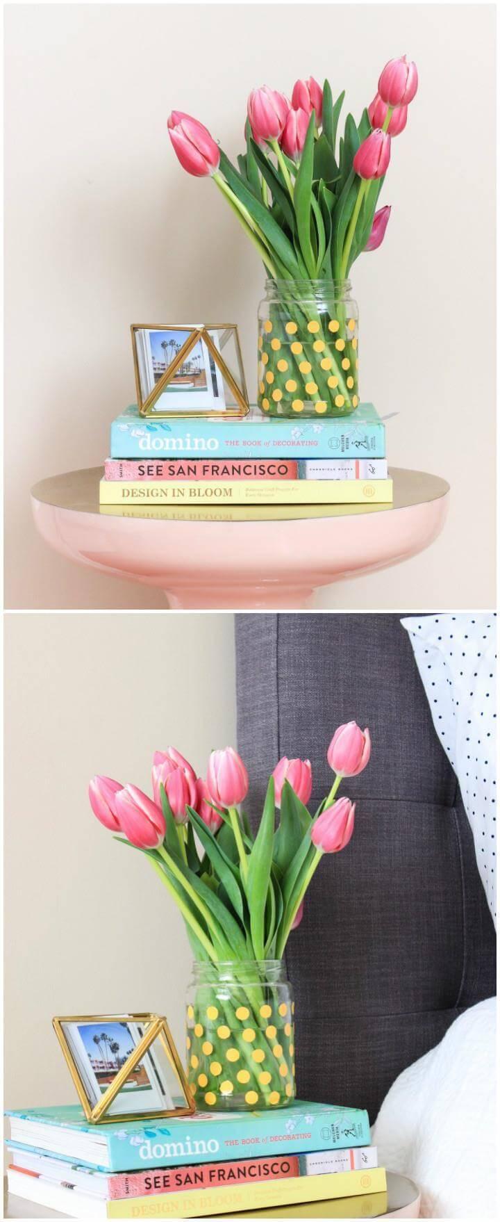 DIY precious polka dot vase