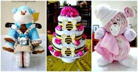 Diaper Cake Ideas That Are Easy to Make
