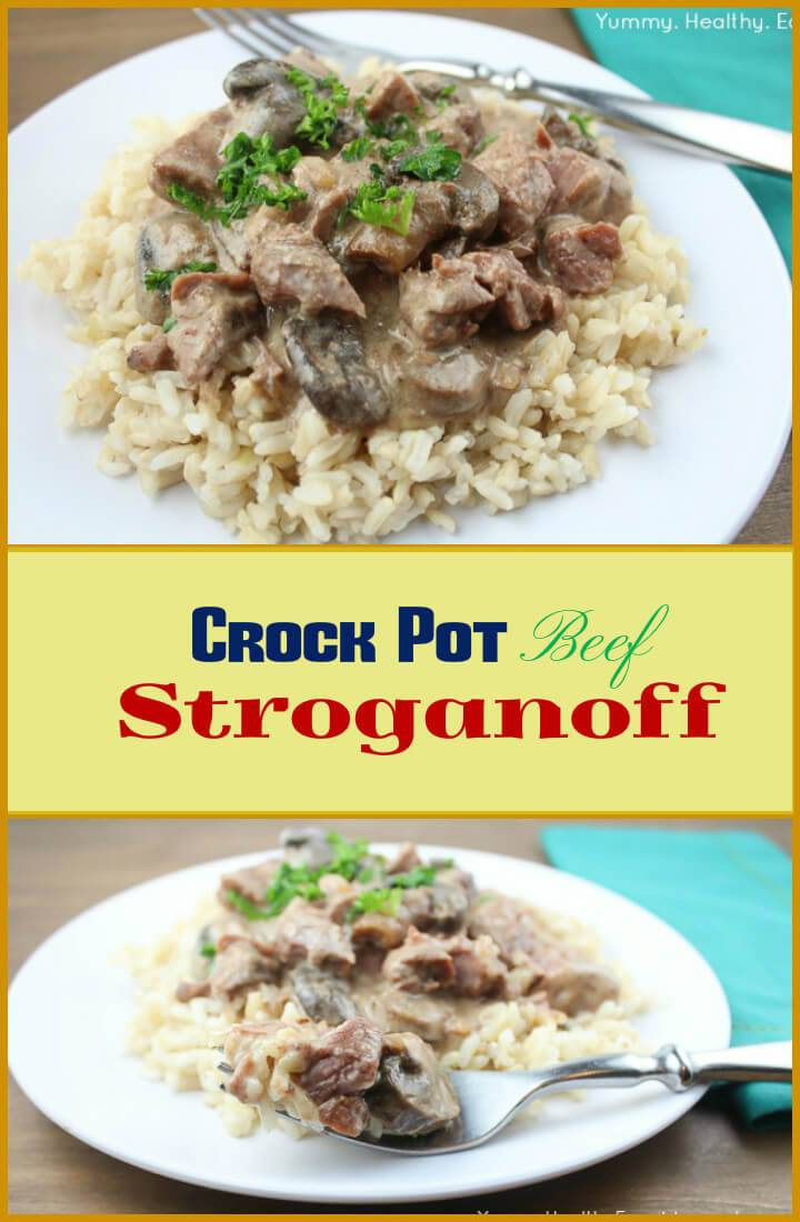 quick and easy crockpot beef stroganoff